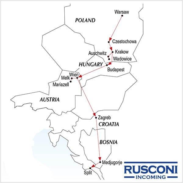 Rusconi Viaggi Incoming Poland Hungary Austria Croatia Bosnia